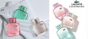 Les nouveaux parfums Eau de Lacoste pour Elles