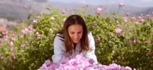 Natalie Portman découvre les roses de Grasse
