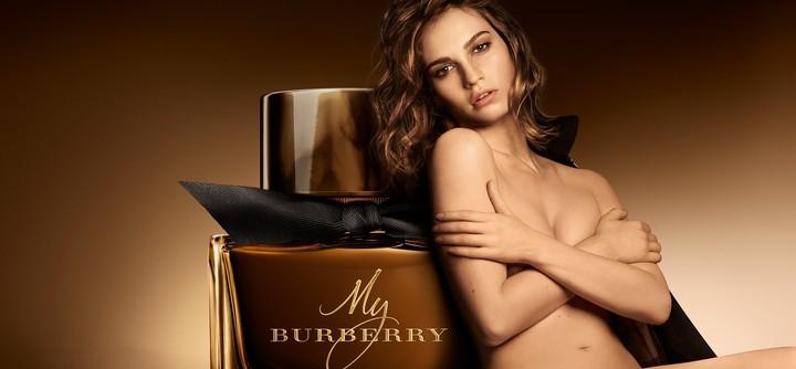La publicité charnelle du nouveau My Burberry Black