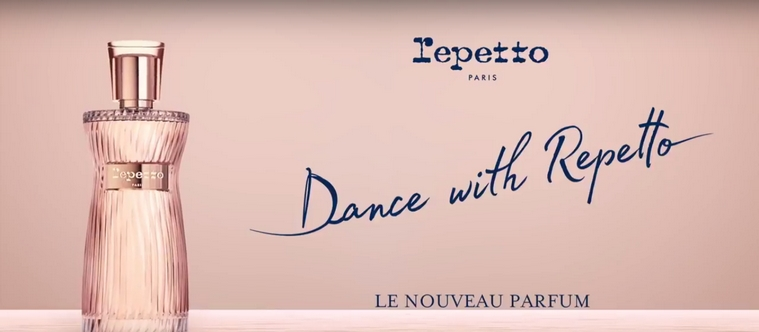 La publicité du parfum Dance with Repetto